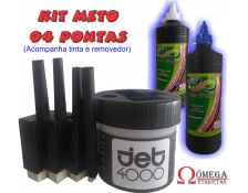 Kit Meto 4 Pontas + 500ml Tinta Azul + 500ml Removedor